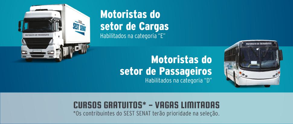 8d1628a55 O SEST SENAT abriu inscrições para sua Escola de Motoristas Profissionais